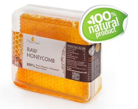 Honey Land 100% Pure Raw Unfiltered Honeycomb - RudiGourmand