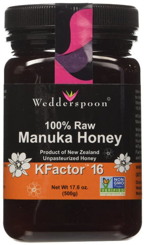 Wedderspoon 100% Raw Manuka Honey KFactor 16 - RudiGourmand