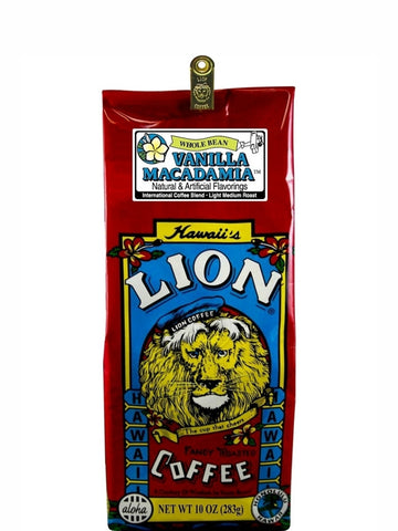 Lion Vanilla Macadamia Flavored Coffee (10 oz) - RudiGourmand