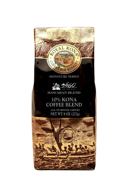 Royal Kona Chef Russell Siu Ground Kona Blend (8 oz) - RudiGourmand