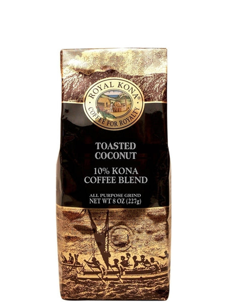 Royal Kona Toasted Coconut Coffee (8 oz) - RudiGourmand