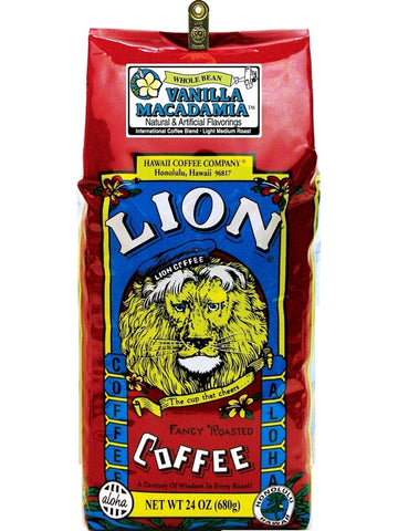 Lion Vanilla Macadamia Flavored Coffee (24 oz) - RudiGourmand