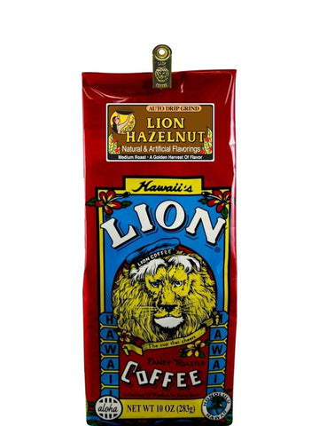 Lion Hazelnut Flavored Coffee (10oz) - RudiGourmand