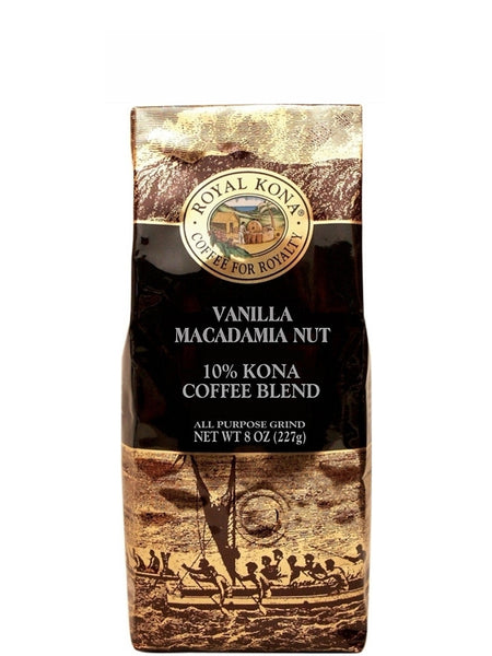 Royal Kona Vanilla Macadamia Coffee (8 oz) - RudiGourmand