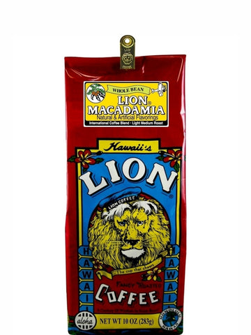 Lion Macadamia Flavored Coffee (10oz) - RudiGourmand