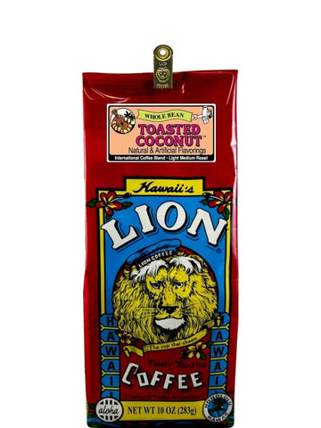 Lion Toasted Coconut Flavored Coffee (10 oz) - RudiGourmand