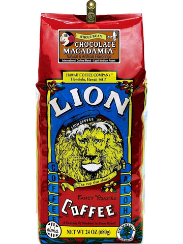 Lion Chocolate Macadamia Flavored Coffee (24oz) - RudiGourmand