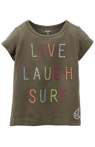 Carter's Live Laugh Surf tee