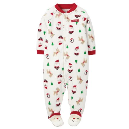 Carter's Joy Santas Favorite Fleece Snap Up Romper