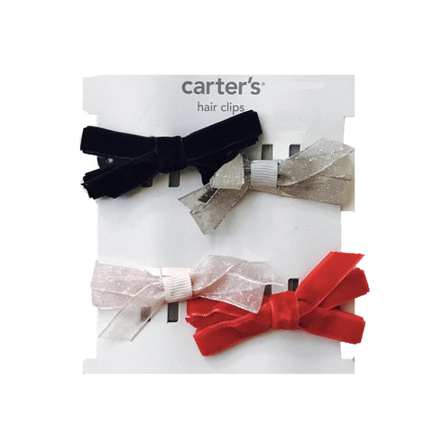 Carter's 4 Pack Bow Hair Clips
