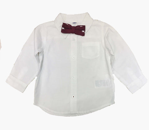 Old Navy Toddler Boy Dress Shirt and Bow Tie