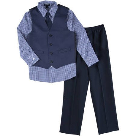 George Boys Pindot Special Occasion Dress Set