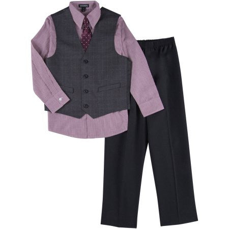George Boys Windowpane Special Occasion Dress Set