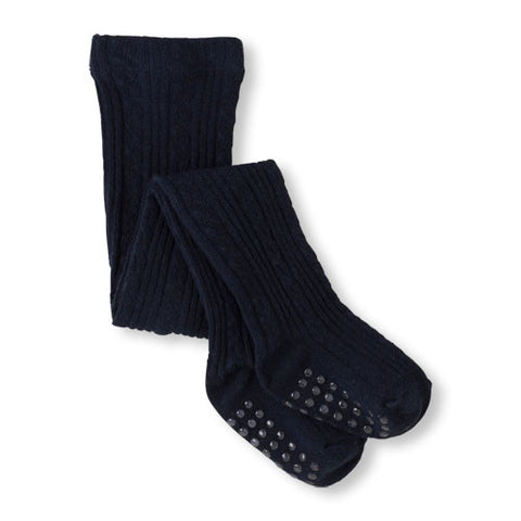 Children's Place Cable Knit Tights-Black