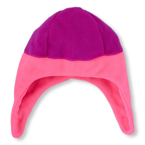 Children's Place Toddler Girls Microfleece Hat Neon Lilac