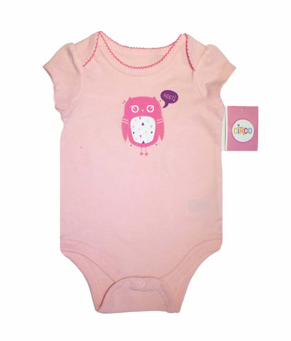 Circo Pink Owl Onesie for baby girl