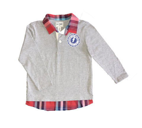 Childrens Place Boys Long Sleeve Faux-Layered Shirt