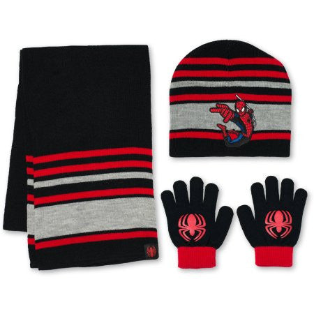 Spiderman 3pc Hat, Gloves and Scarf Set