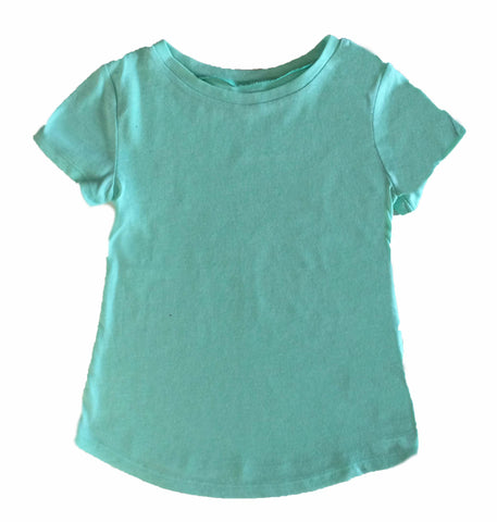Short Sleeve Plain Light Aqua Tee By Old Navy