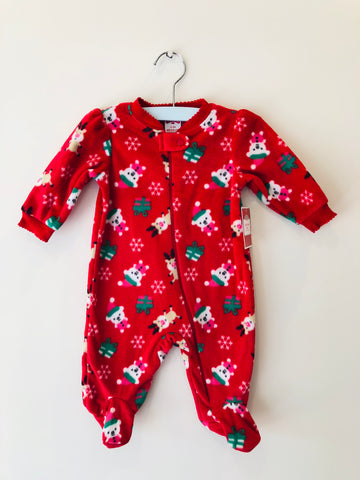 Holiday Time Reindeer and Friends Fleece Romper