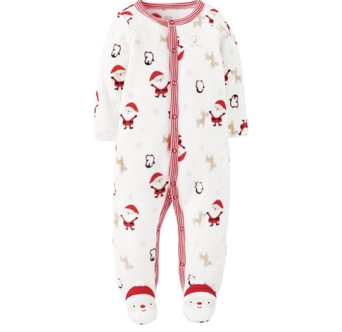 Carters Joy Santa's Helper Fleece Romper
