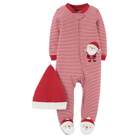 Carters Baby Santa 2 Piece Sleep and Play Set