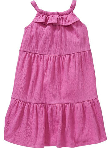 Old Navy Tiered Ruffle-Neck Gauze Dress