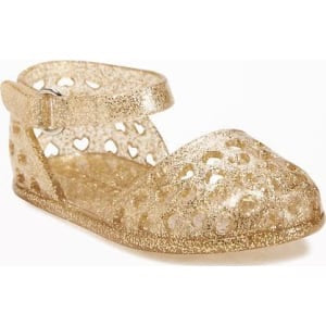 Old Navy Gold Marry Jane Jellies flipflop