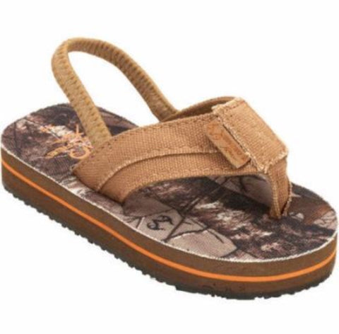 Realtree Boys Toddler Camo Thong Flip Flops