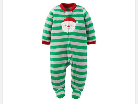 Carter's Santa Claus Striped Microfleece Blanket Sleeper