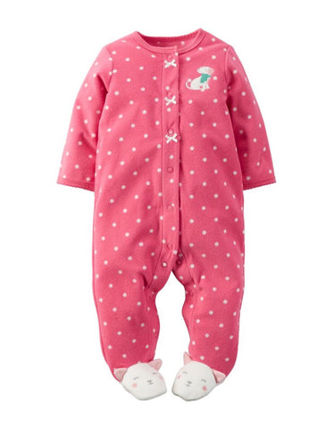 Carter's Girls Snap up Fleece Footie Romper