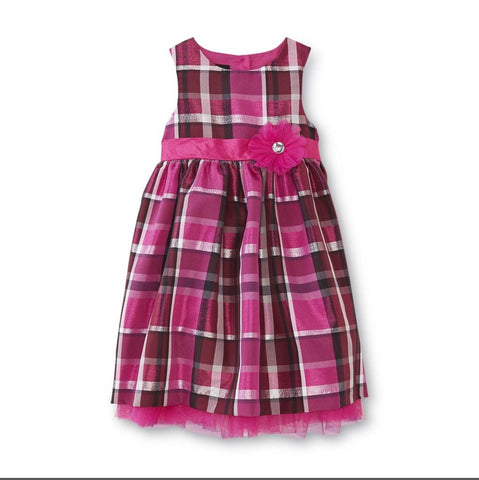 Girl's Occasion Dress-Plaid