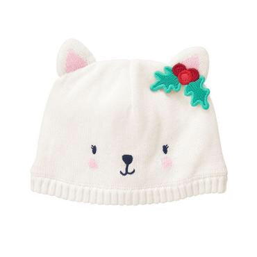Snow Kitty Beanie by Gymboree