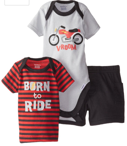 Gerber boys Motercycle 3piece Set 0-3 months