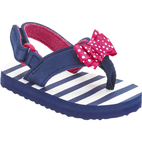 Toddler Girls' Flip Flop Polka Dot Bow