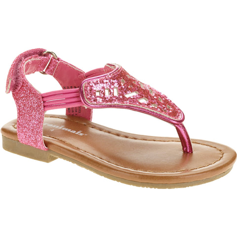 Toddler Girls' Hooded Flower Glitter Sandal flipflop