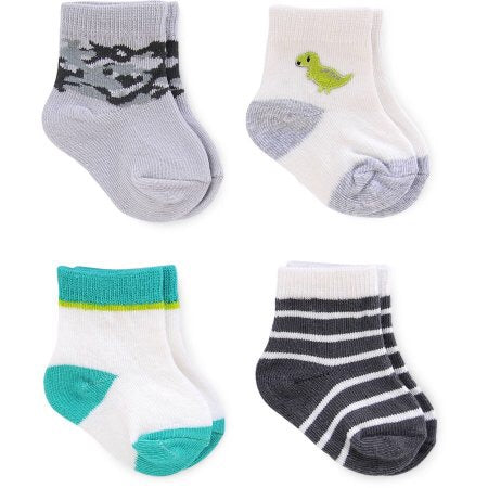 Carter's 4 Pack Baby Boy Socks Dino