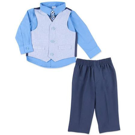 Boys Dressy Vest Set By Gorge - 4 piece