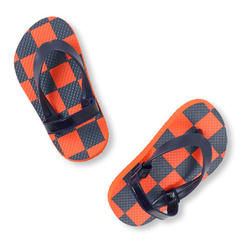 Children's Place Boys Flip Flops Orange