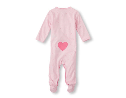 Childrens Place Long Sleeve Heart Print Sleep and Play