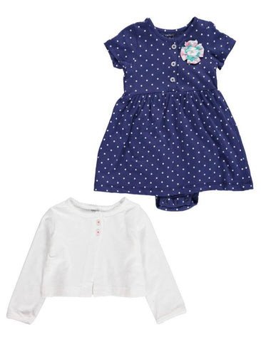 Carter's 2 piece Bodysuit Dress and Cardigan Set