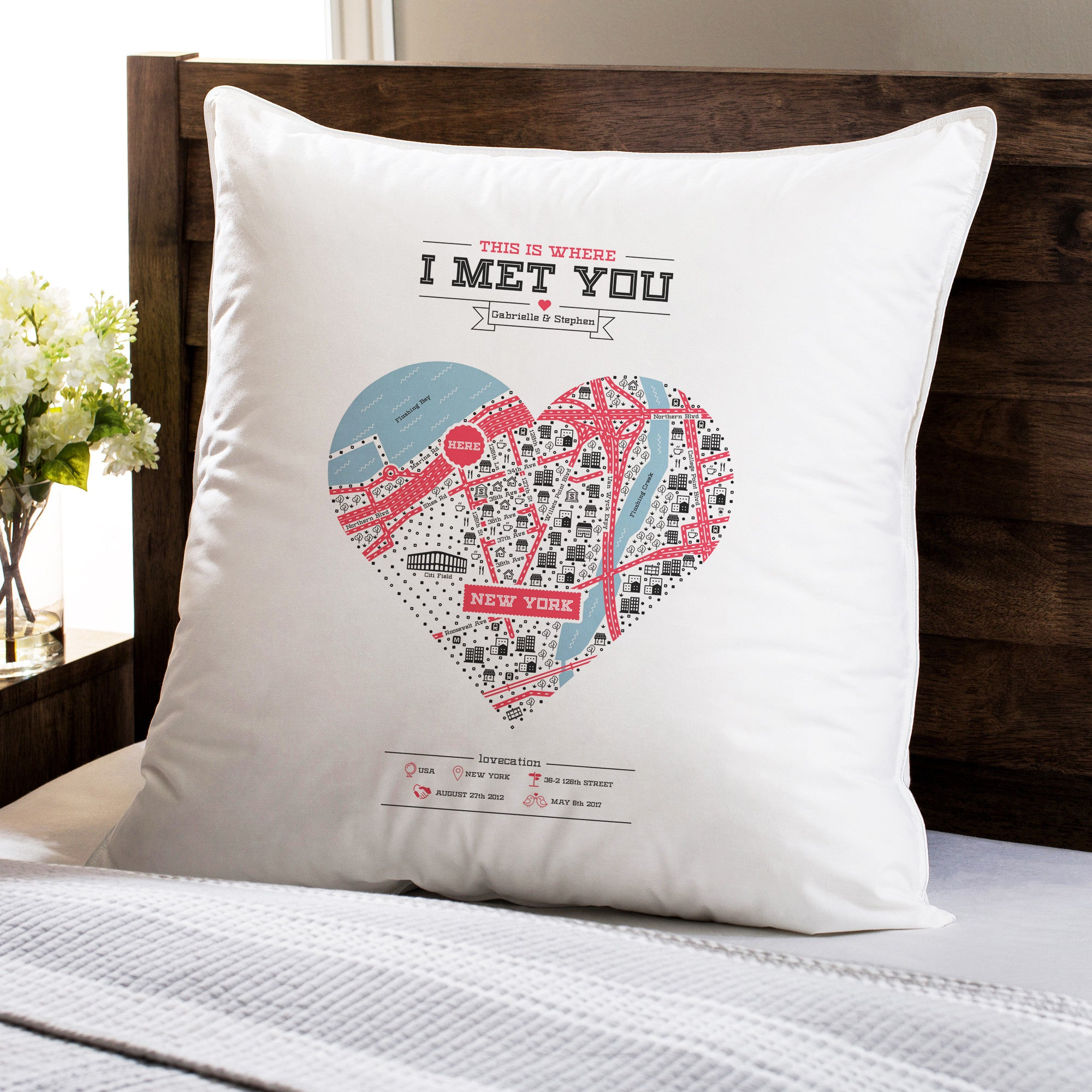 antler watercolor custom pillow pin personalized floral pillows initial