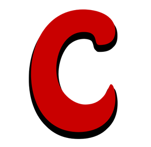 Alphabetical Comic Capital Letters in Red Script Font