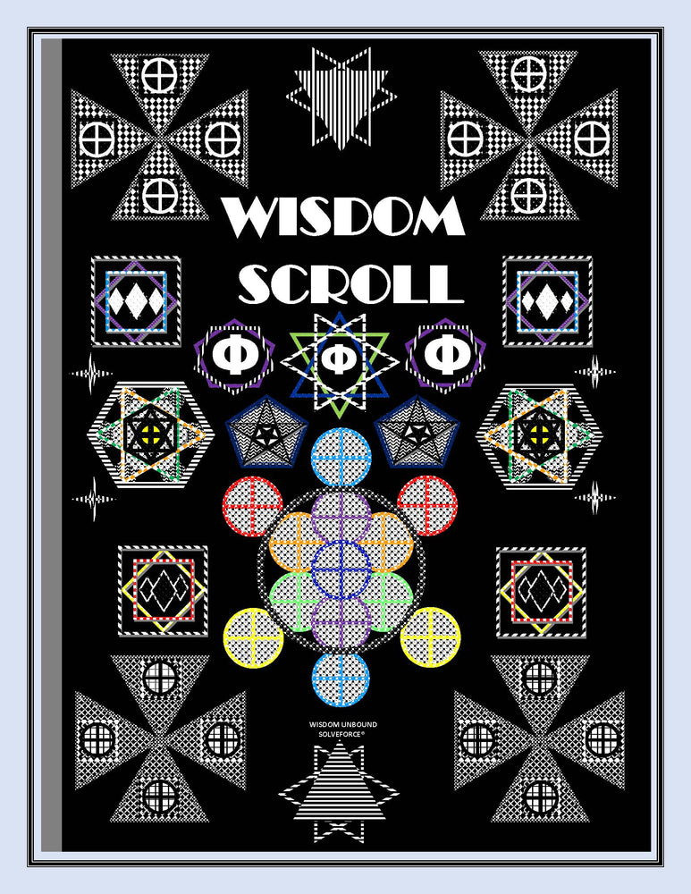 WISDOM SCROLL COSMIC COMMUNICATIONS VIBRATIONS ILLUSTRATIONS