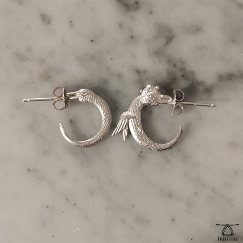Ouroboros Hoop Earrings