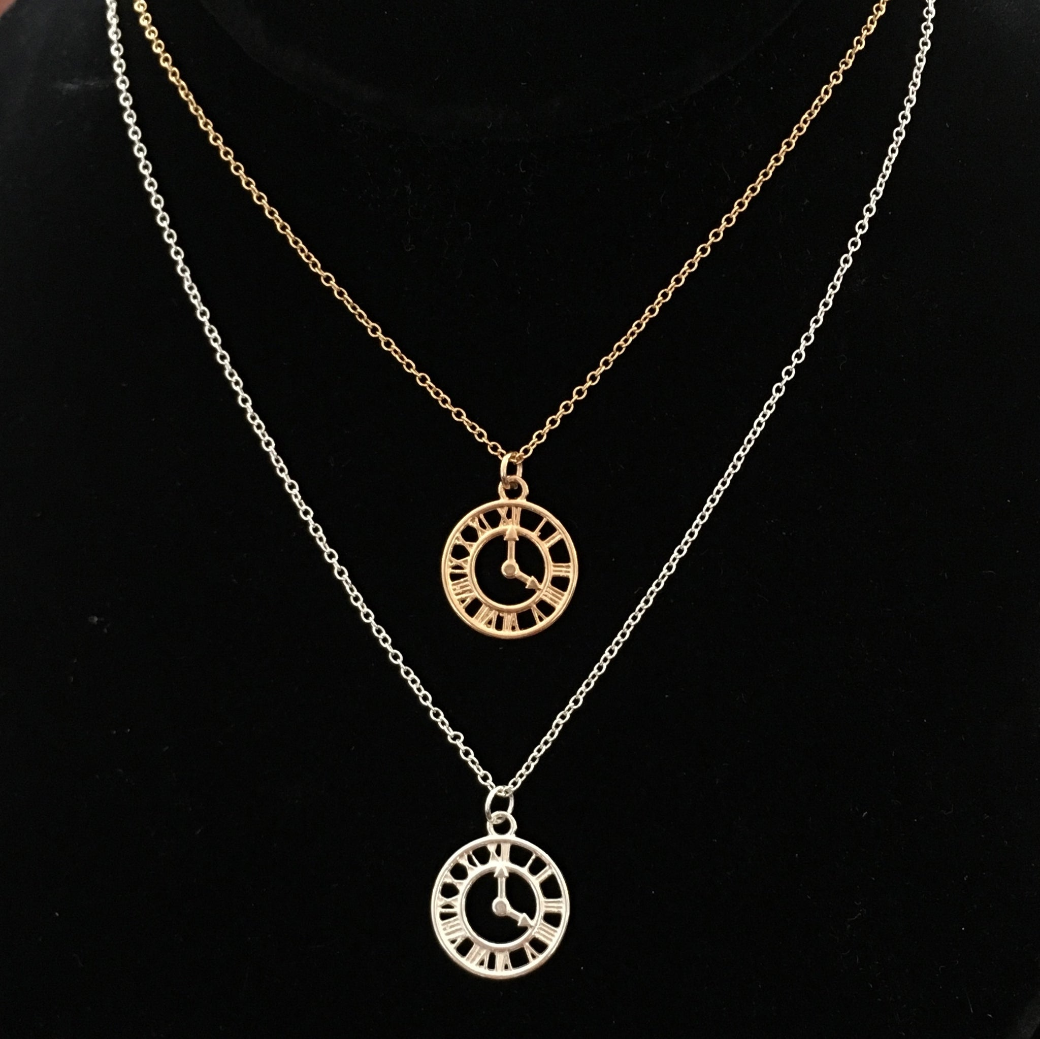 Clock Pendant & Necklace
