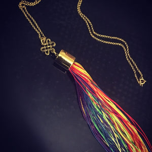 Celtic Rainbow Weaver Tassel Necklace - Trendy Diana Necklace