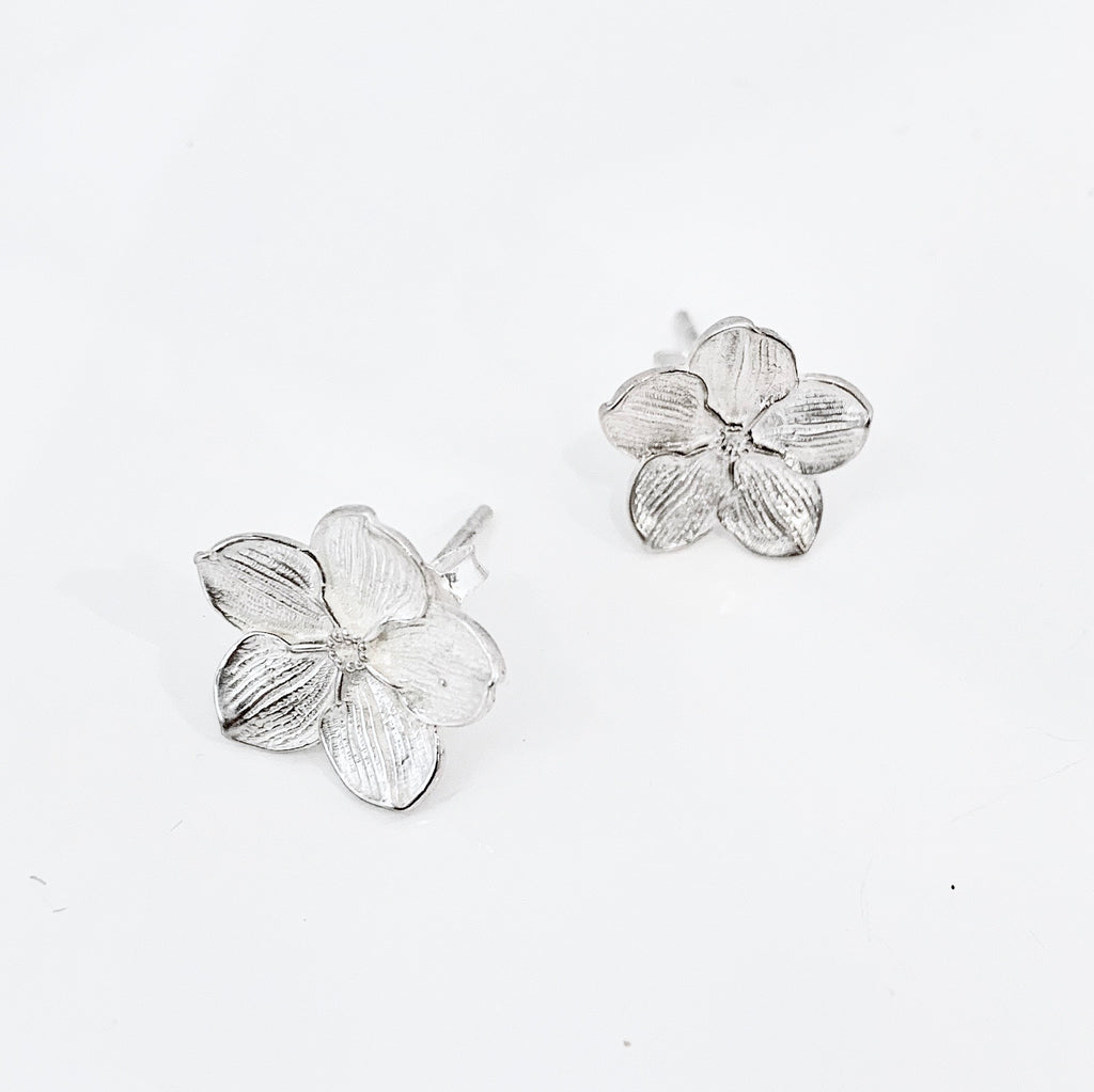 SALE Forget-me-not Silver Stud Earrings