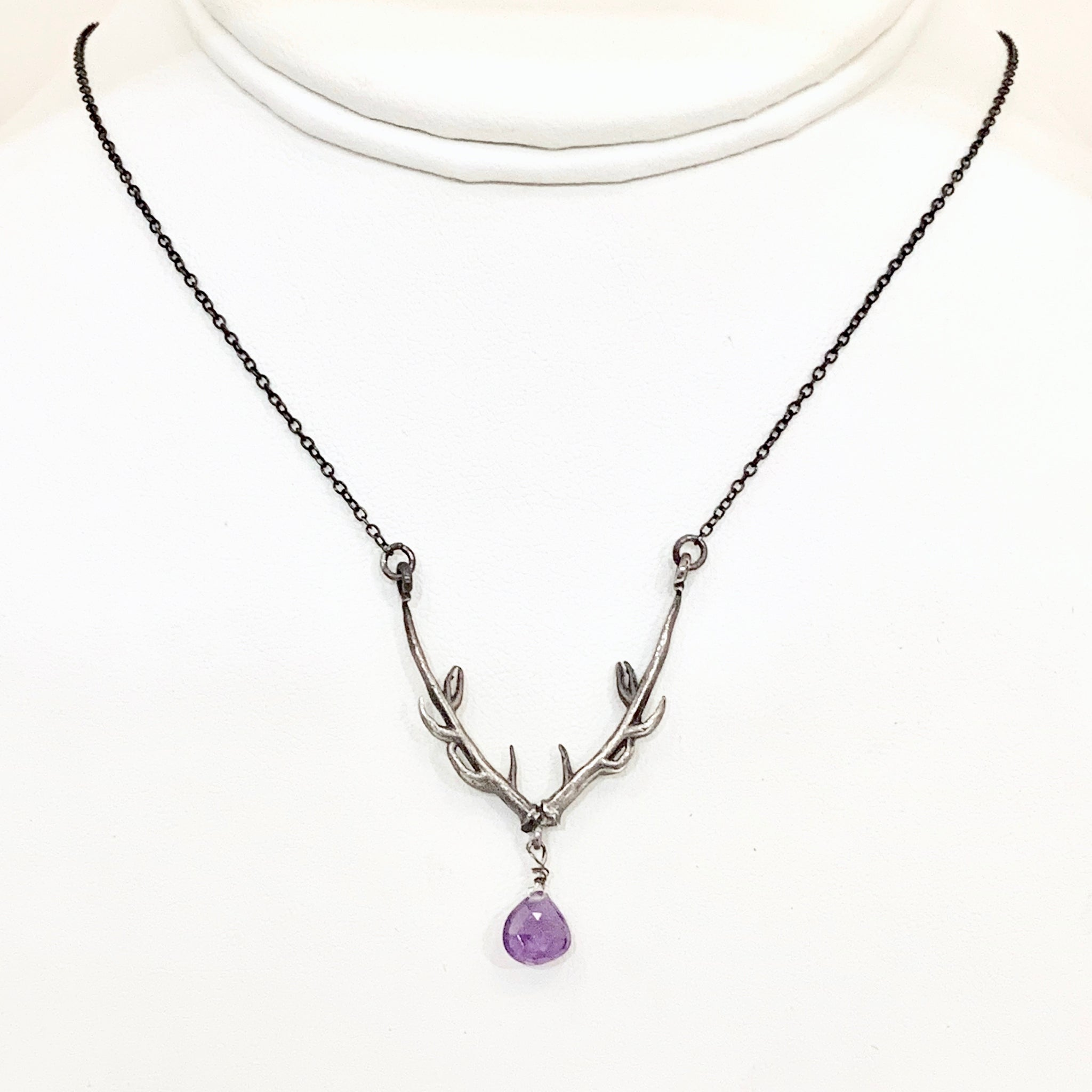Stag of Destiny Necklace with Amethyst