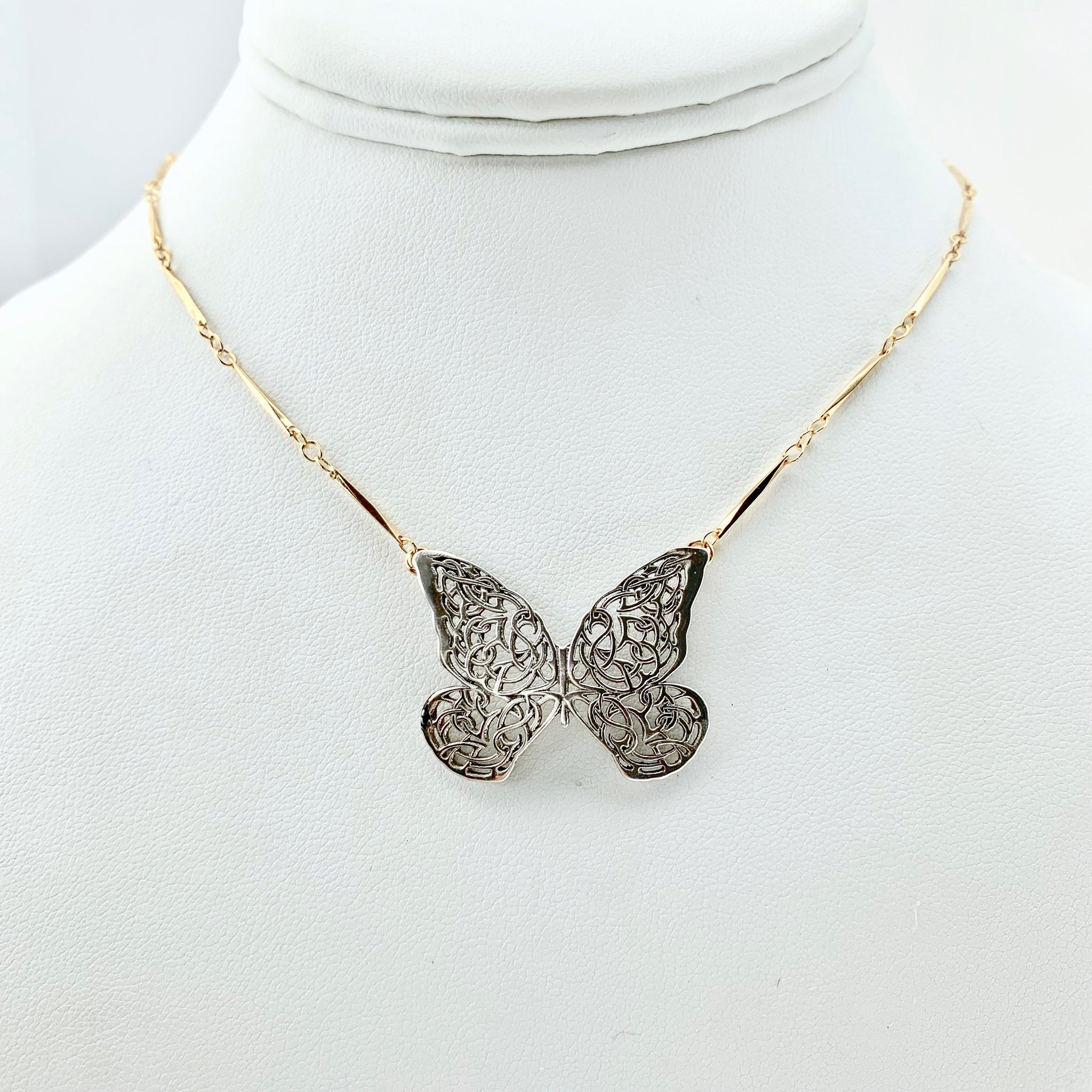 SALE - Celtic Knot Butterfly Necklace